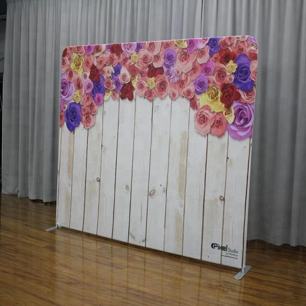 10ft Straight Tension Fabric Photo Booth Backdrop Trade Show Displays