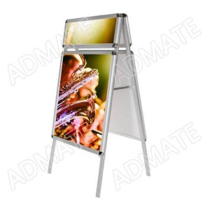 A-Board Poster Stand with header