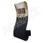 S Shape Stretch Fabric Banner Stand