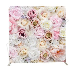 8 ft fabric wedding flower photo booth backdrops