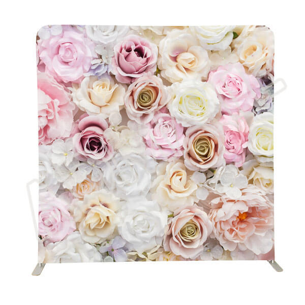 8ft fabric wedding flower photo booth backdrops 02