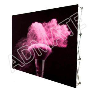 10' Velcro Fabric Pop Up Media Wall Displays Portable Trade Show Booth Backdrop Stand