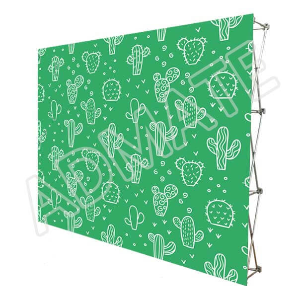 10×8 Stretch Fabric Pop Up Displays Backdrop Wall For Trade Show Booths