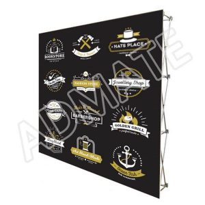 3x3 Fabric Straight Pop Up Media Wall Stand Step And Repeat Sponsor Backdrops